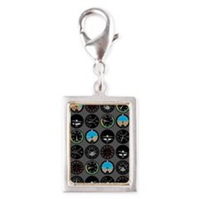 Flight Instruments Silver Portrait Charm