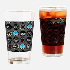 Flight Instruments Drinking Glass