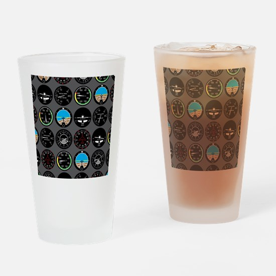 Flight Instruments Drinking Glass