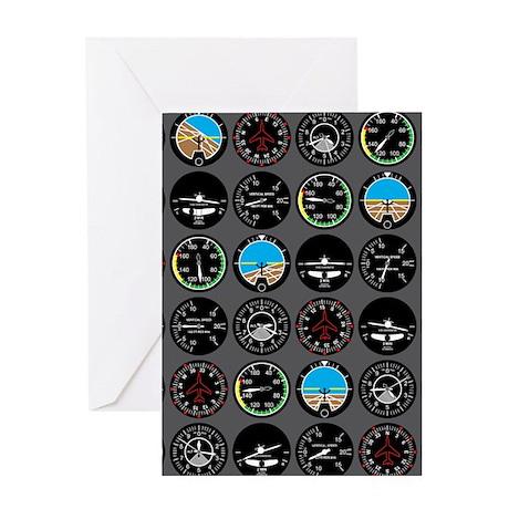 Flight Instruments Greeting Card