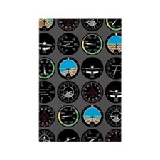Flight Instruments Rectangle Magnet