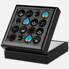 Flight Instruments Keepsake Box