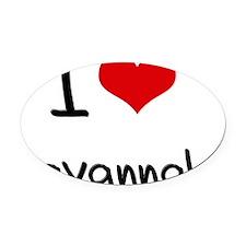 I Love Savannah Oval Car Magnet