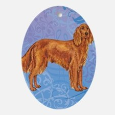 Irish Setter Oval Ornament