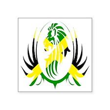 "Jamaican Lion Square Sticker 3"" x 3"""