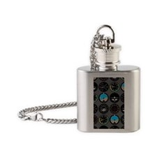 Flight Instruments Flask Necklace