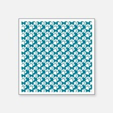 "Dog Paws Teal-Small Square Sticker 3"" x 3"""