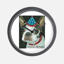 Boston Terrier Me Party Wall Clock