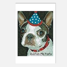 Boston Terrier Me Party Postcards (Package of 8)