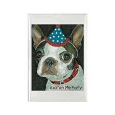 Boston Terrier Me Party Rectangle Magnet