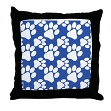 Cute Dog Paws Throw Pillow