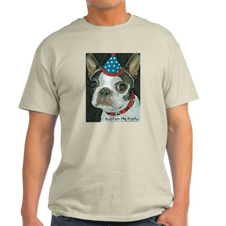 Boston Terrier Me Party Light T-Shirt