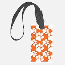 Dog Paws Clemson Orange Luggage Tag