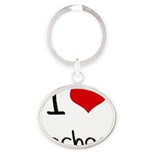 I Love Rachael Oval Keychain