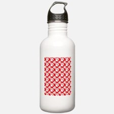 Dog Paws Red Water Bottle