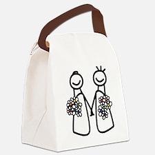 Lesbian wedding Canvas Lunch Bag