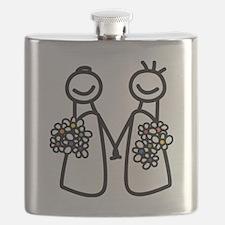 Lesbian wedding Flask