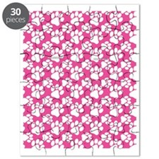 Dog Paws Bright Pink Puzzle