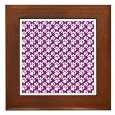 Dog Paws Purple-Small Framed Tile