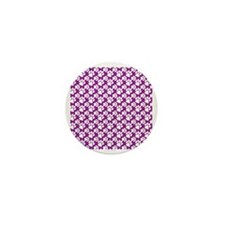 Dog Paws Purple-Small Mini Button