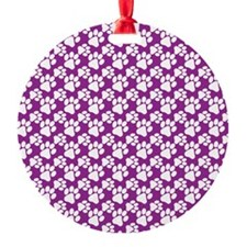 Dog Paws Purple-Small Ornament