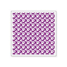"Dog Paws Purple-Small Square Sticker 3"" x 3"""
