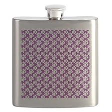 Dog Paws Purple-Small Flask