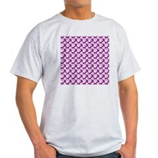 Dog Paws Purple-Small T-Shirt