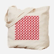 Dog Paws Red-Small Tote Bag