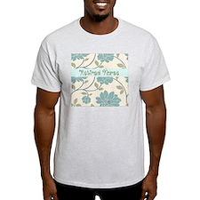 retired nurse blue flower pillow T-Shirt