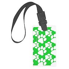 Dog Paws Green Luggage Tag