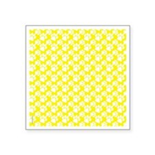 "Dog Paws Yellow-Small Square Sticker 3"" x 3"""
