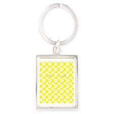 Dog Paws Yellow Portrait Keychain