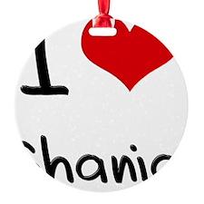 I Love Shania Round Ornament