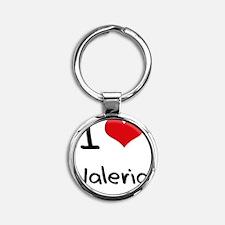 I Love Valeria Round Keychain