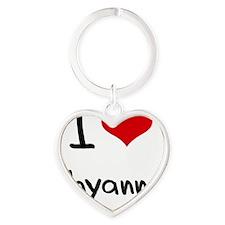 I Love Shyanne Heart Keychain