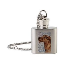 irish terrier-keyback2 Flask Necklace