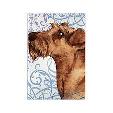 irish terrier-keyback2 Rectangle Magnet