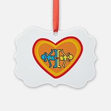 Girls heart Ornament