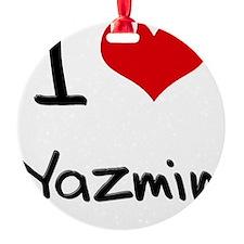 I Love Yazmin Ornament