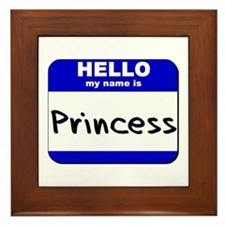 hello my name is princess  Framed Tile