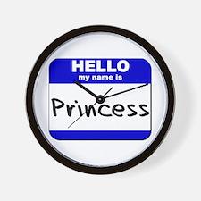 hello my name is princess  Wall Clock