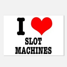 I Heart (Love) Slot Machines Postcards (Package of