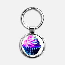 Cupcake Round Keychain