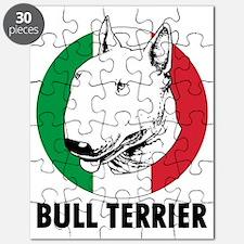 Bull Terrier Italian flag Puzzle