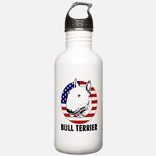 Bull Terrier USA flag Water Bottle