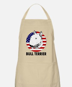 Bull Terrier USA flag Apron