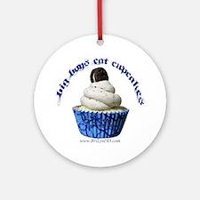 Big Boys Eat Cupcakes Round Ornament