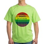 CIVIL RIGHTS EVERYONE Green T-Shirt
