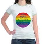 CIVIL RIGHTS EVERYONE Jr. Ringer T-Shirt